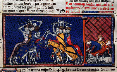 A Battle; Pestilence Poster by British Library