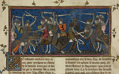 A Battle Scene Poster by British Library