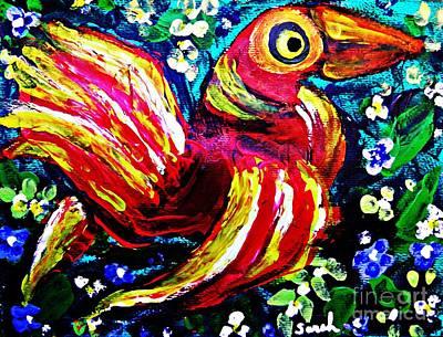 A Bird Imagined Poster by Sarah Loft