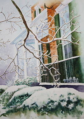A Blanket Of Snow Poster by Patsy Sharpe