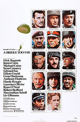 A Bridge Too Far, Top L-r Dirk Bogarde Poster by Everett