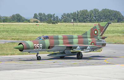 A Bulgarian Air Force Mig-21 Poster by Giovanni Colla