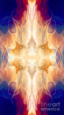 A Burst Of Light Abstract Living Artwork By Omaste Witkowski Poster by Omaste Witkowski