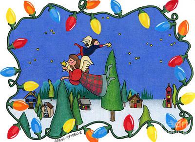 A Christmas Scene Poster by Sarah Batalka