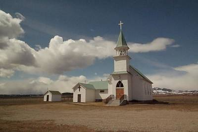 A Church In Eastern Montana Poster by Jeff Swan