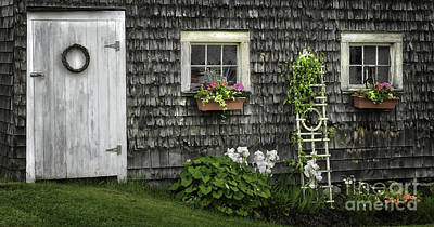 A Cottage Garden - Essence Of Mid Coast Maine Poster by Thomas Schoeller
