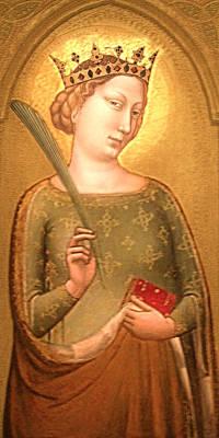 A Crowned Virgin Martyr - Facsimile Poster by Li   van Saathoff