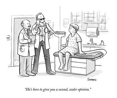 A Doctor Tells A Patient About A Hip-looking Poster by Benjamin Schwartz