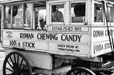 A Dollar A Stick Roman Chewing Candy In Bw Poster by Kathleen K Parker