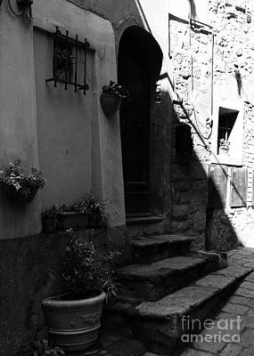 A Door In Tuscany 2 Bw Poster by Mel Steinhauer