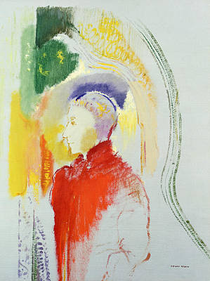 A Figure Poster by Odilon Redon