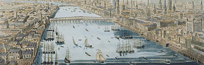 A General View Of The City Of London And The River Thames Poster by Thomas Bowles