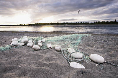 A Gill Net Used For Sockeye Salmon Poster by Scott Dickerson