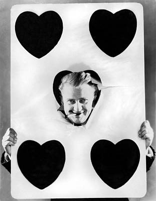 A Happy Five Of Hearts Poster by Underwood Archives