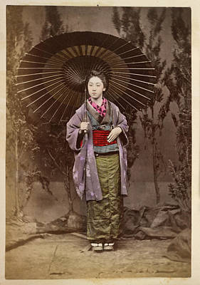 A Japanese Lady With A Parasol Poster by British Library