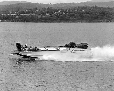 A Jet Powered Speed Boat Made By Boeing Poster by Underwood Archives