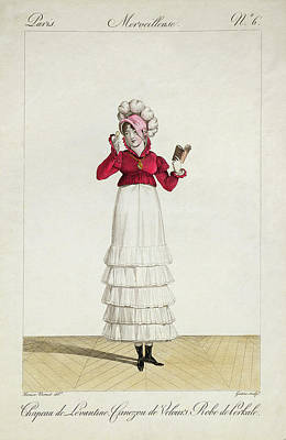 A Lady In A Levantine Hat Poster by Antoine Charles Horace Vernet