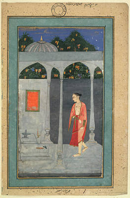 A Lady Visiting A Shrine Poster by British Library
