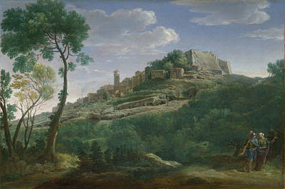 A Landscape With An Italian Hill Town Poster by Hendrik Frans van Lint