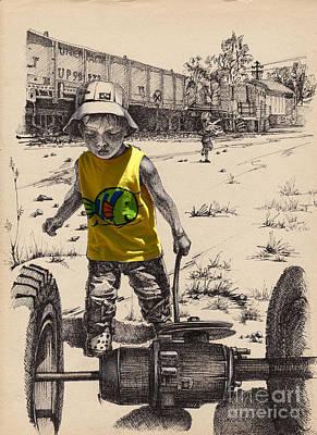 A Little Man Poster by Ninel Senatorova