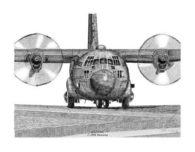 A Lockheed C-130h Hercules Poster by Arthur Eggers