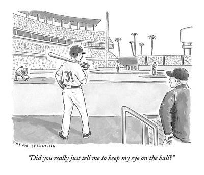 A Major League Baseball Player On Deck Poster by Trevor Spaulding