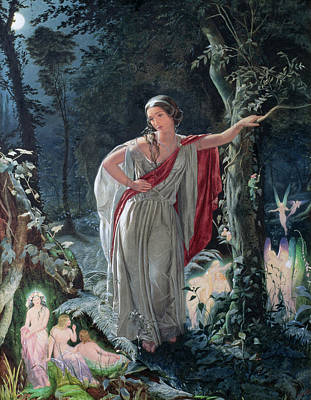 A Midsummer Nights Dream Hermia Poster by John Simmons