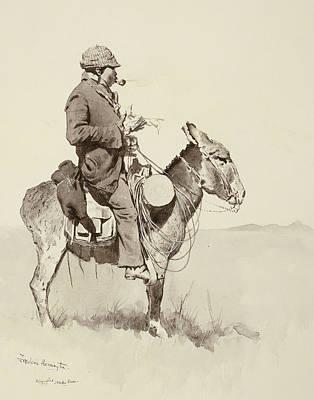 A Modern Sancho Panza Poster by Frederic Remington