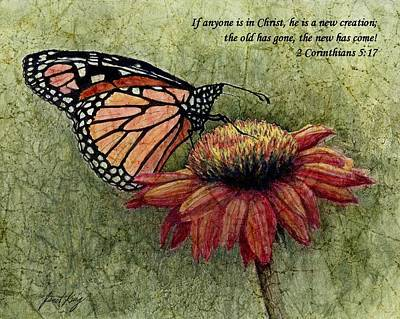 A New Creation From A Butterfly In My Garden Poster by Janet King