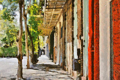 A New Orleans Alley Poster by Christine Till