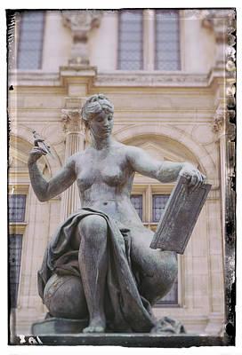 A Paris Statue Poster by Georgia Fowler