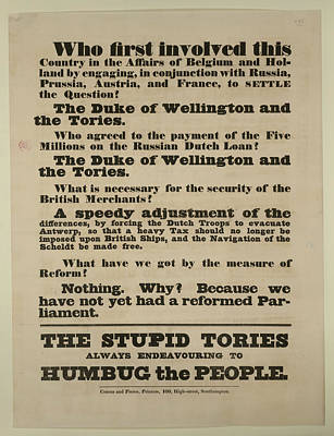 A Political Broadside Poster by British Library