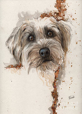 A Portrait Of A Dog Poster by Angel  Tarantella