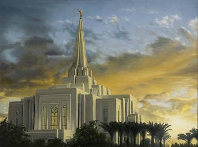 Gilbert Temple Poster by Maci Fuhriman