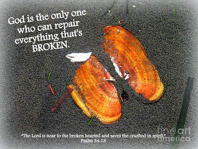 A Psalm For The Brokenhearted Poster by Kathy  White