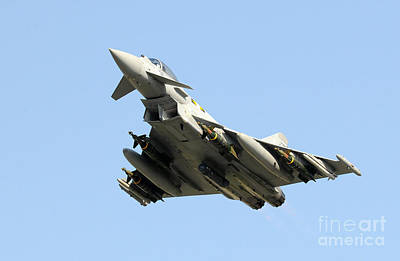 A Royal Air Force Typhoon  Poster by Paul Fearn