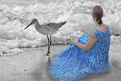 A Sandpiper's Dream Poster by Betsy C Knapp