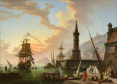 A Seaport Poster by Claude-Joseph Vernet