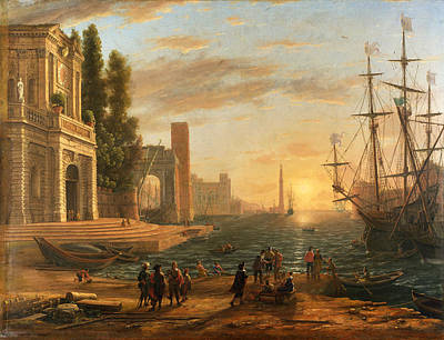 A Seaport Poster by Claude Lorrain