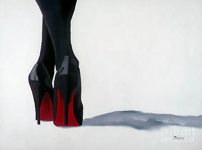 A Shade Of Louboutin Poster by Rebecca Jenkins