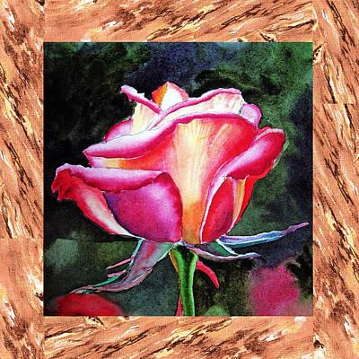 A Single Rose The Silky Light Poster by Irina Sztukowski