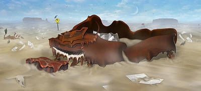 A Slow Death In Piano Valley - Panoramic Poster by Mike McGlothlen