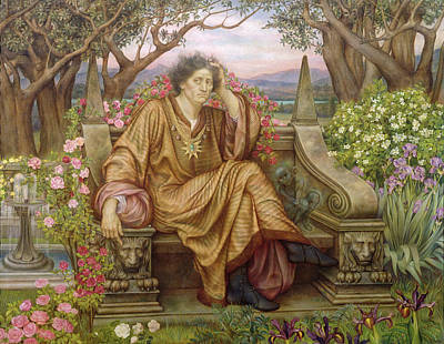 A Soul In Hell Poster by Evelyn De Morgan