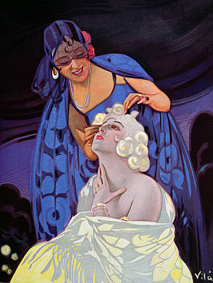 A Spanish Hairdresser Poster by Vila