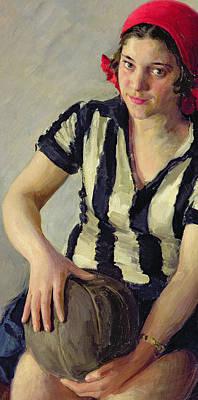 A Sportswoman Poster by Ivan Semyonovich Kulikov