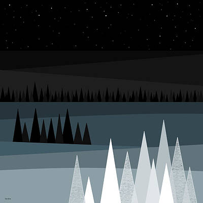 A Star Studded Sky Poster by Val Arie