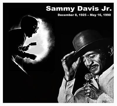 A Tribute To Sammy Davis Jr Poster by Jim Fitzpatrick