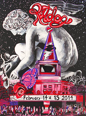 A Valentines Weekend With Ratdog At The Tower Theater Poster by Kevin J Cooper Artwork