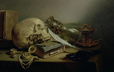 A Vanitas Still Life Poster by Pieter Claesz