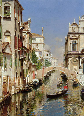 A Venetian Canal  Poster by Rubens Santoro